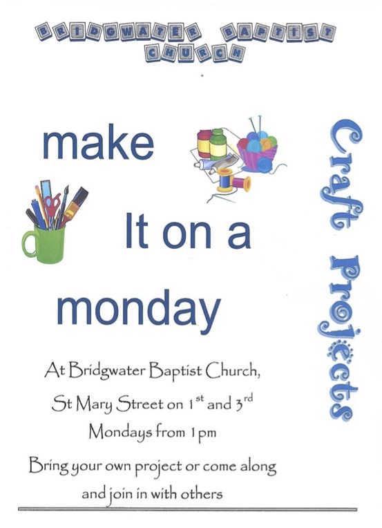 Make it on a Monday - craft projects, bring your own!