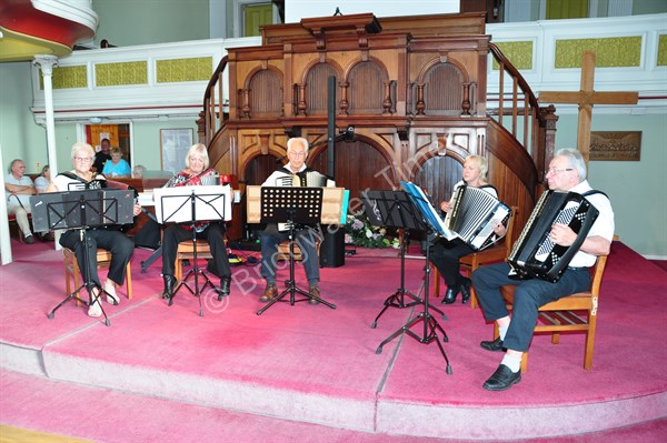 The Accordion Band at Bridgwater Baptist Sound Celebration in July 2019 | Photo used with permission by The Bridgwater Times